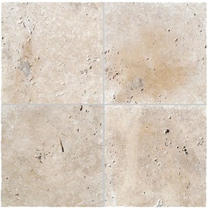 Travertine Linen Tumbled Unfilled Tile