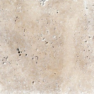 Travertine Linen Tumbled Unfilled Tile closeup