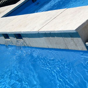 Travertine Pool Coping Tumbled Edge