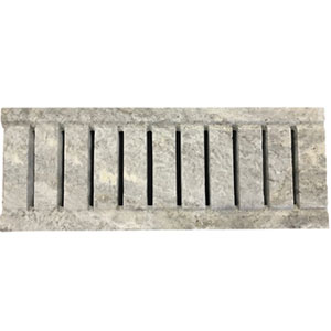 Silver Travertine Tumbled Unfilled Grate