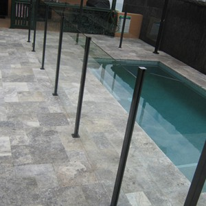 Silver Travertine (Platinum) Pool Tiles