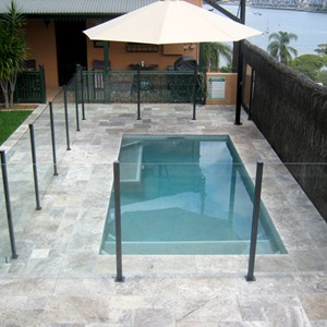Travertine Silver Pool Pavers