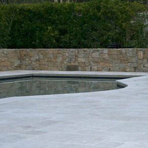 Tumbled Travertine (French) Ashlar Pattern