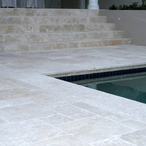 Tumbled Travertine French Pattern