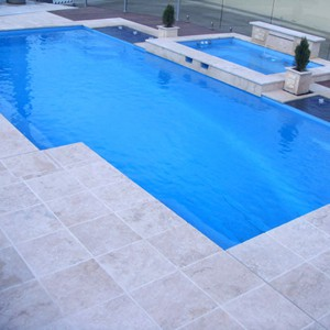 Tumbled Travertine Pool Pavers