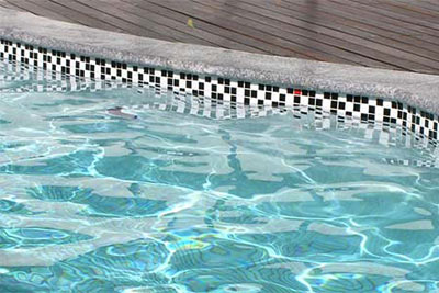 Ceramic Mosaic Waterline Tiles for Swimming Pools