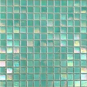 GC093 Aquamarine Pearl glass mosaic pool tile