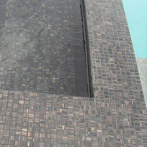 GC099 Black Caramel shown tiled in spa pool