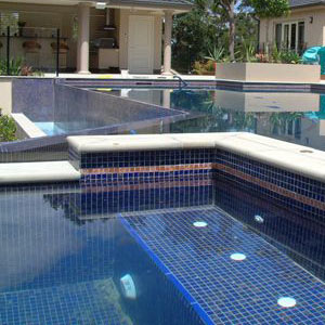 GC125 Dark Blue Gold Pool Tiles