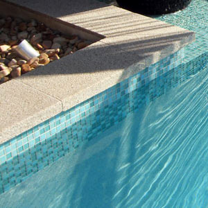 Glass Mosaic Tiles for Swimming Pools Waterline tiles and feature walls