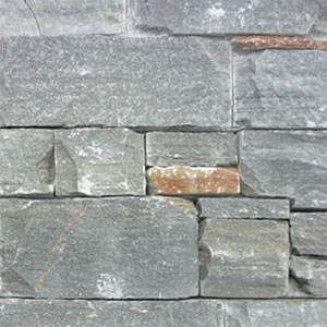 SS415 Rustic Grey Stacked Stone Panel