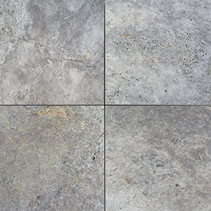 Travertine Silver Tumbled Unfilled Tiles
