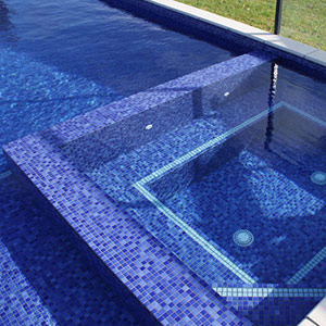 Swimming Pool Mosaic Tiles in Ceramic, Glass also Waterline and ...