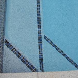 CMC365 Fusion 23mm ceramic mosaic pool tiles in place