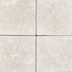 Natural Limestone Pool Pavers And Pool Coping In Two