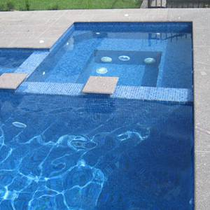 GC171 Surf Glass 20mm mosaic tiles used to fully tile a pool