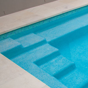 GC430 Kimberley 20mm glass mosaic pool tiles in place