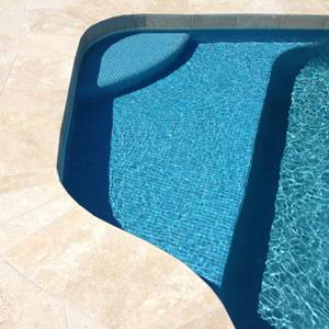 GCR210 Sky Blue 23mm Crystal glass mosaic pool tiles in place