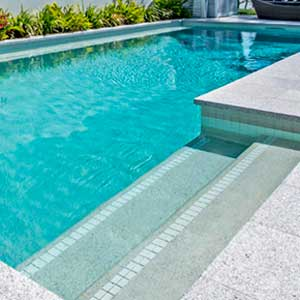 GCR325 Aqua Crystal Pearl Blend 20mm glass mosaic pool tiles in place