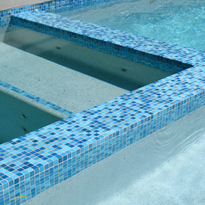 Swimming Pool Mosaic Tiles in Ceramic, Glass also Waterline ...
