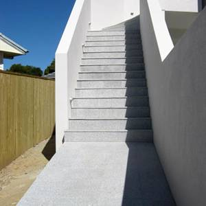 Light Grey Granite stone paving tiles used for outdoor staircase