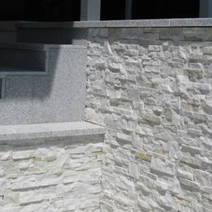 SS315 Contempo Stacked Stone Panel shown as feature wal