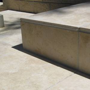 Travertine Linen Honed & Filled Tiles used for steps and paving