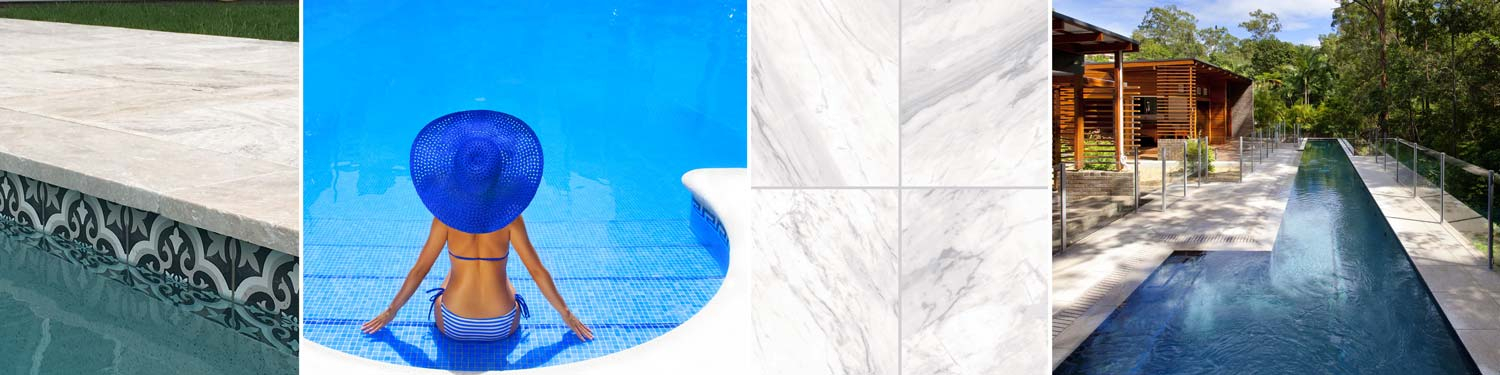 Some of  our huge range of Pool Tiles ready to order now